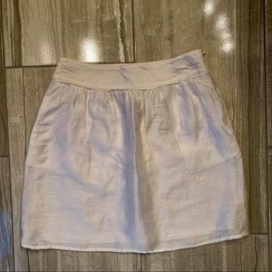 New with Tags White Loft Skirt